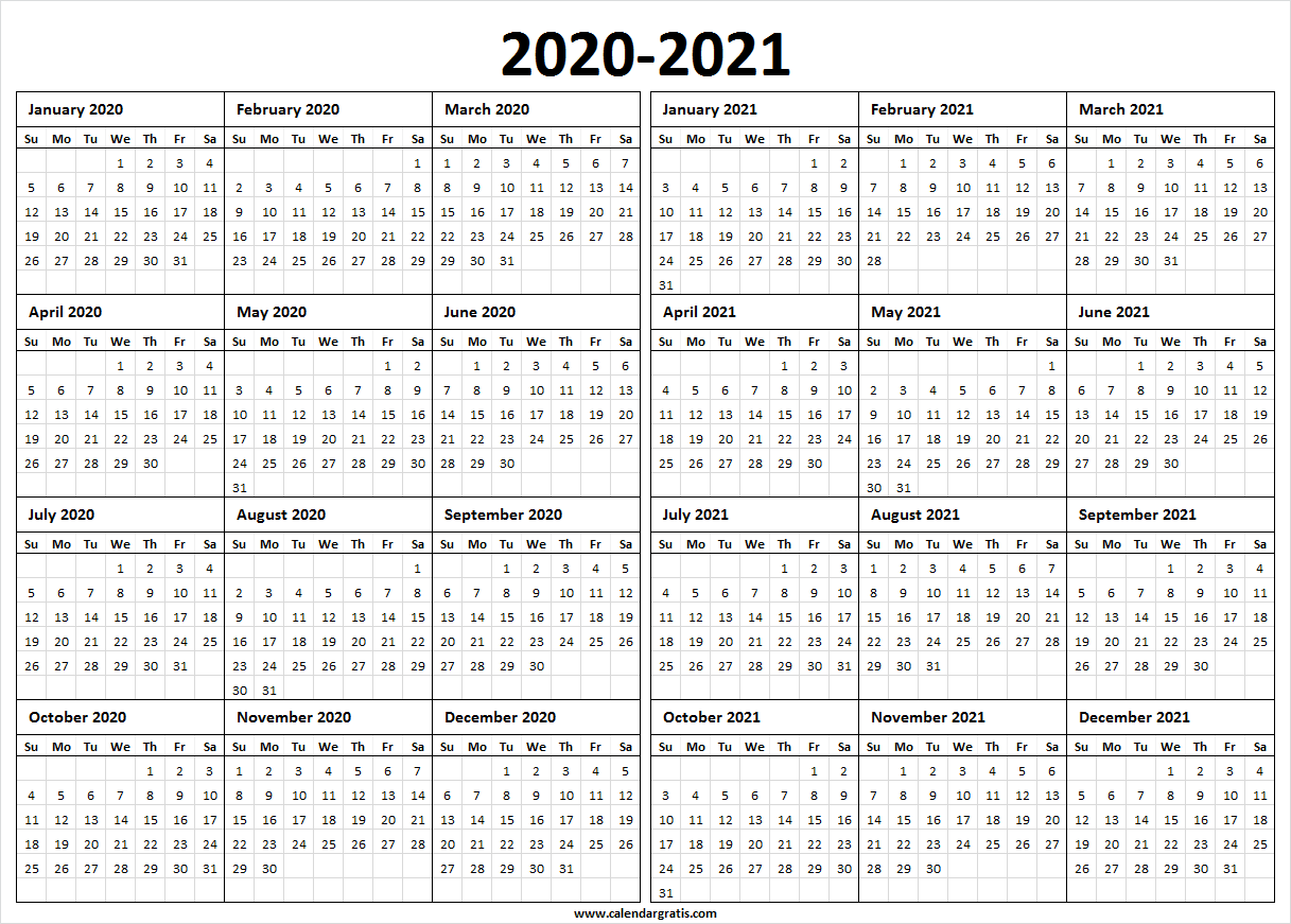 Printable Calendar 2020 Template, Holidays | 2020 2021 ...