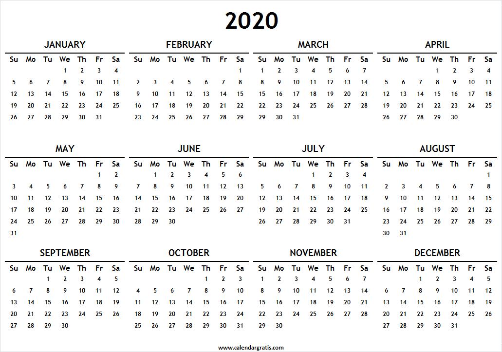 Printable Calendar 2020 Template, Holidays | 2020 2021 ...