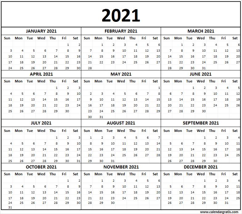 Printable Calendar 2021 Template for School   2021 2022 ...